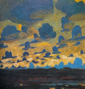 Wenzel Hablik_Sylt, Kampen. Dunkle Wolken, Watt, 1907