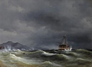 Anton Melbye_Schiffbruch vor der Küste_1846_Ubbens Art-72dpi